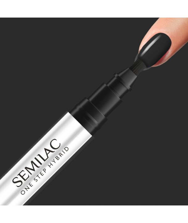 S190 The Black Semilac One Step Hybrid 3ml