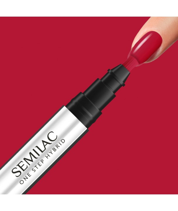 S550 Pure Red Semilac One Step Hybrid 3ml