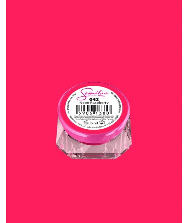 042 UV Gel Color Semilac Neon Raspberry 5ml