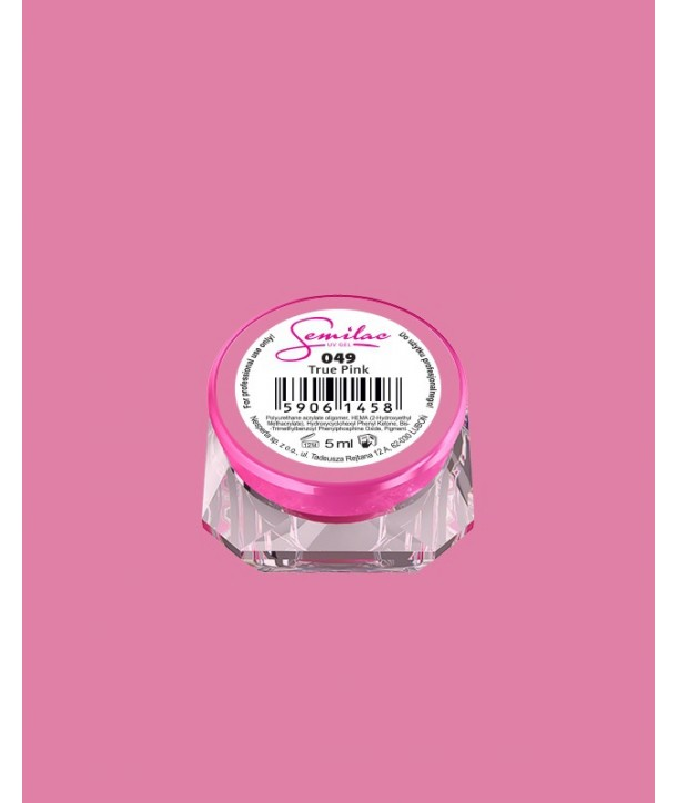 049 UV Gel Color Semilac True Pink 5ml