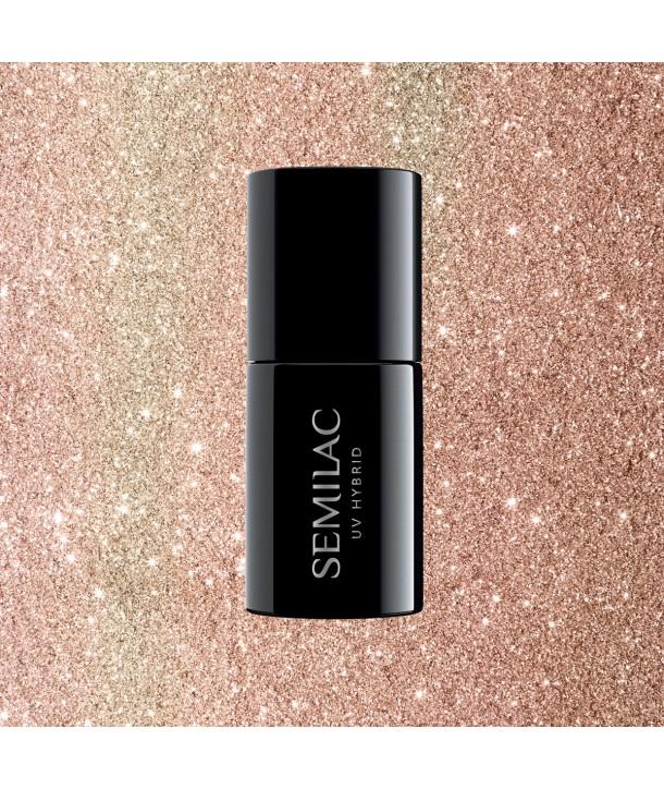 349 Delicate Vanilla Glitter Semilac UV Hybrid 7ml