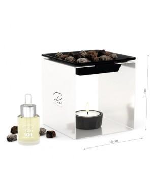 Fragrance Oil Chimney Burner STEEL 1 White