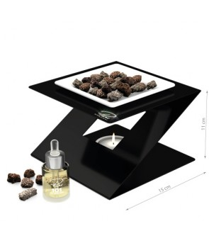 Fragrance Oil Chimney Burner STEEL 3 Black