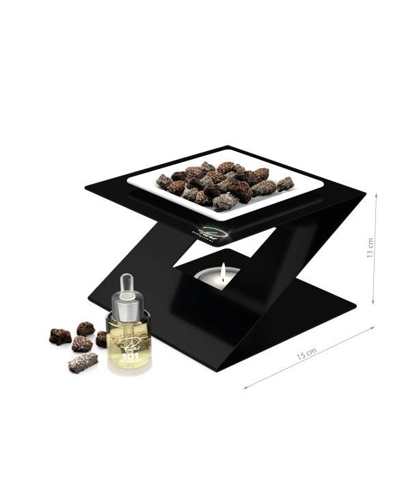 Fragrance Oil Chimney Burner STEEL 3 Black Nr 101