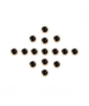 Kamienie w oprawie - czarne 4527