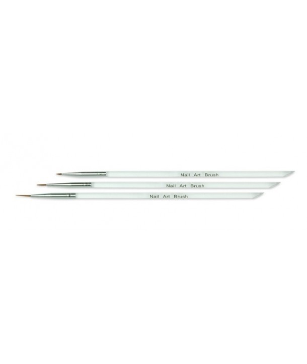 Set of 3 Brushes for Nail Decoration