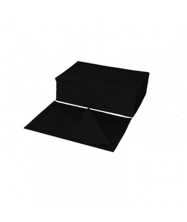 50pcs 70x50 cm Eko-higiena Non-woven Perforated Towel BLACK