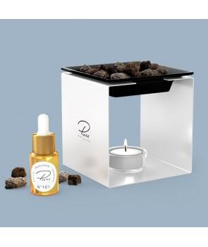 Fragrance Oil Chimney Burner STEEL 1 White Nr 102