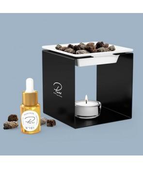 Fragrance Oil Chimney Burner STEEL 1 Black Nr 202