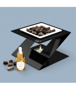 Fragrance Oil Chimney Burner STEEL 3 Black Nr 102