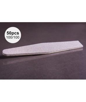 50pcs 100/100 ABA Group Diamond Nail File
