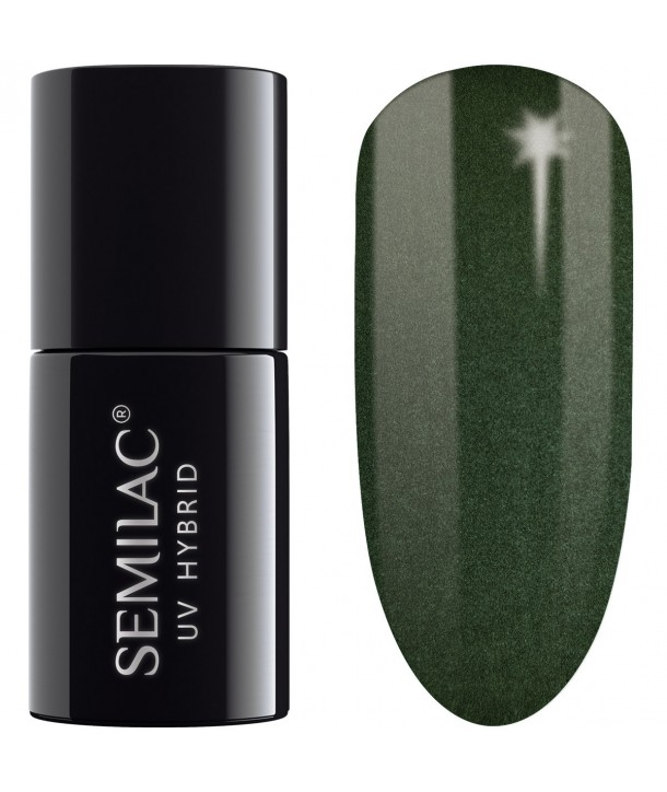 079 UV Hybrid Semilac Dark Green Pearl 7ml