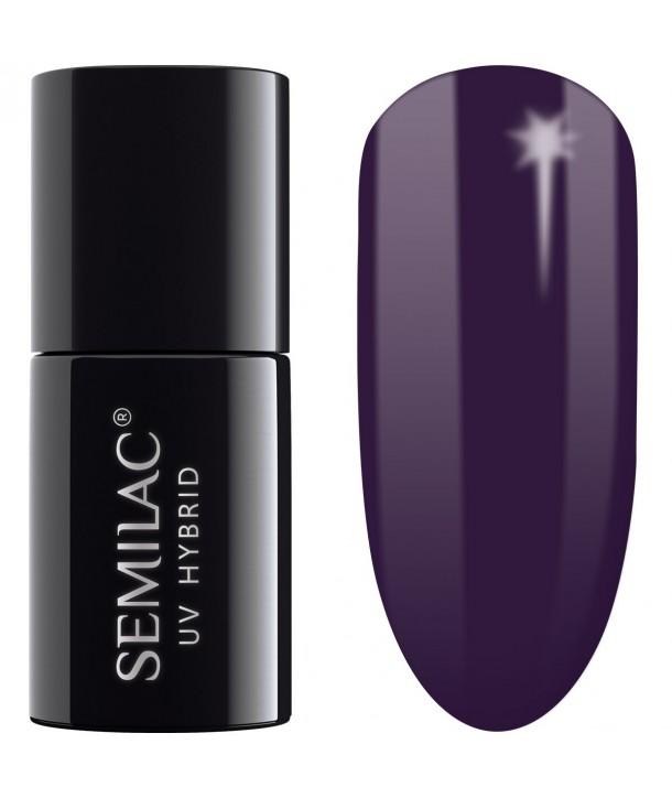100 UV Hybrid Semilac Black Purple 7ml