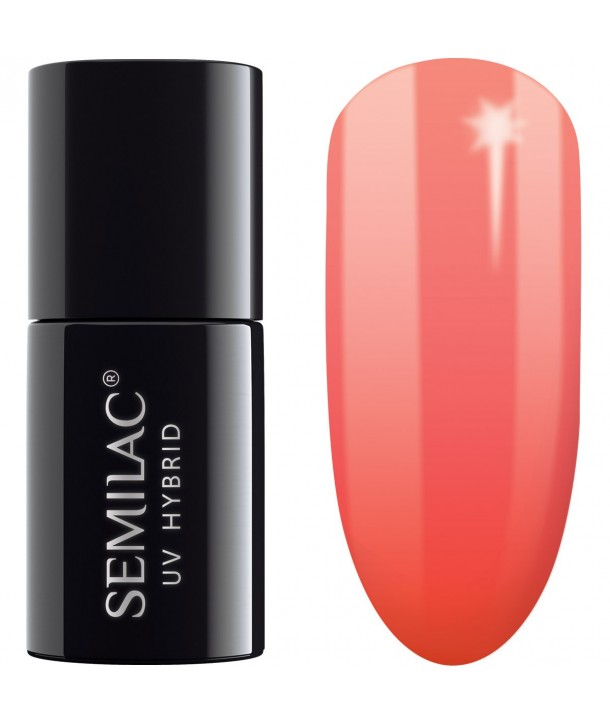 UV hybrid Semilac Thermal Orange&Peach 640