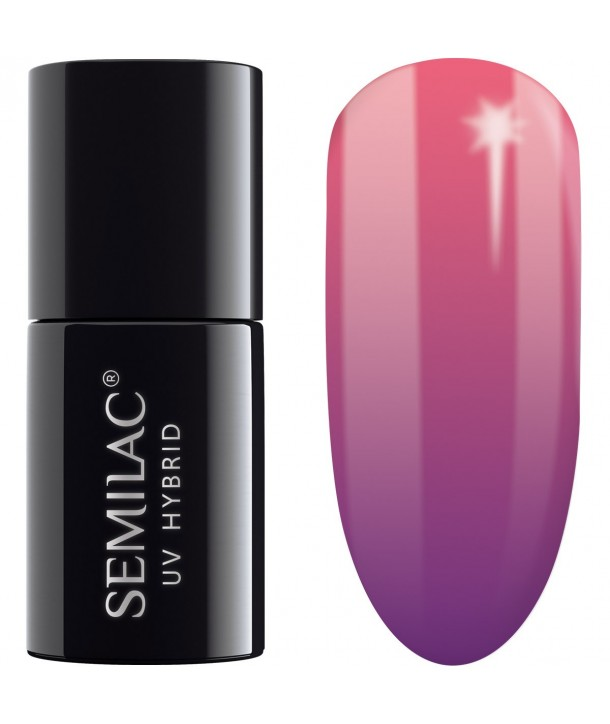 UV Hybrid Semilac Thermal Purple&Pink 646