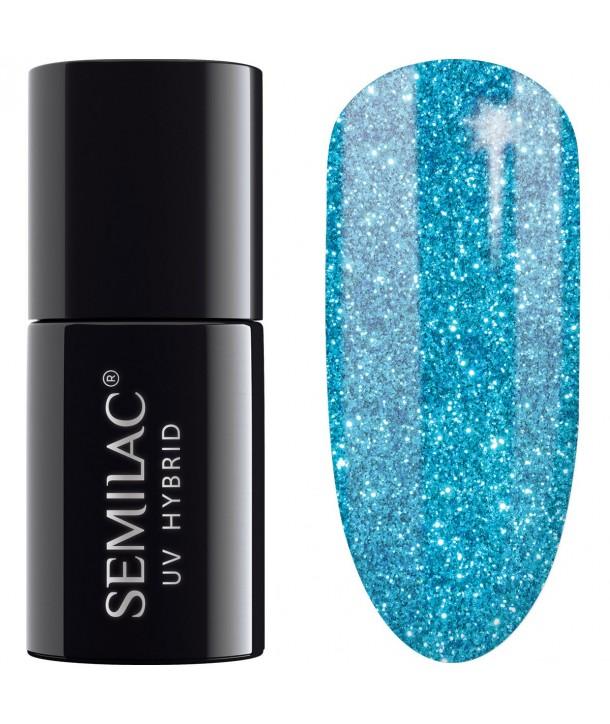 UV Hybrid Semilac Platinum Turquoise 254