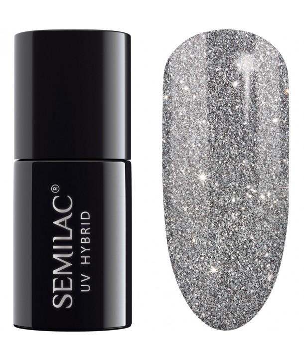 UV Hybrid Semilac Platinum Silver 259