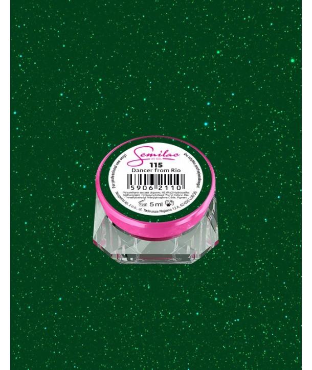 115 UV Gel Color Semilac Dancer From Rio 5ml