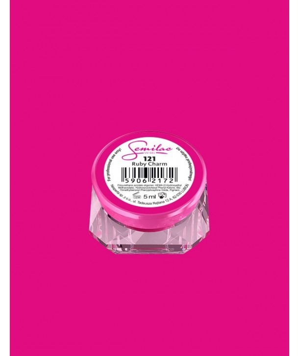 121 UV Gel Color Semilac Ruby Charm 5ml