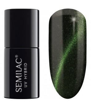 UV Hybrid Semilac Cat Eye Green 610