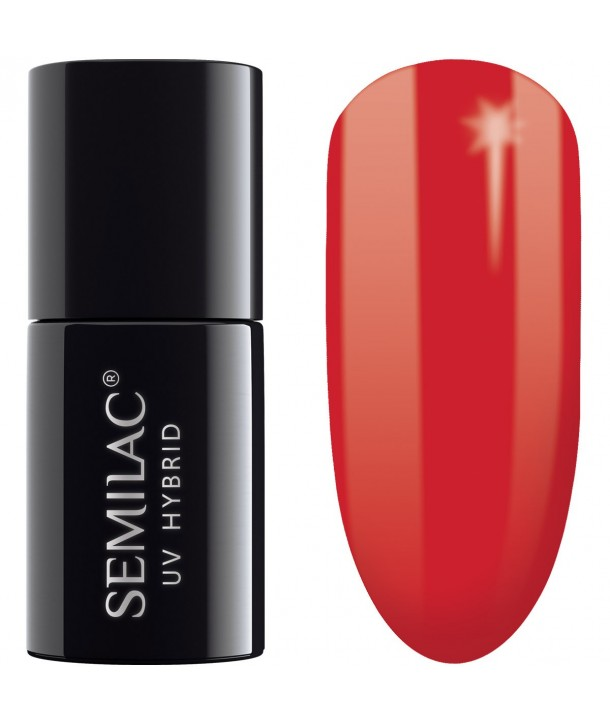 Semilac SemiBeats Hybrid Nail Polish 7ml - 519 Full Orange