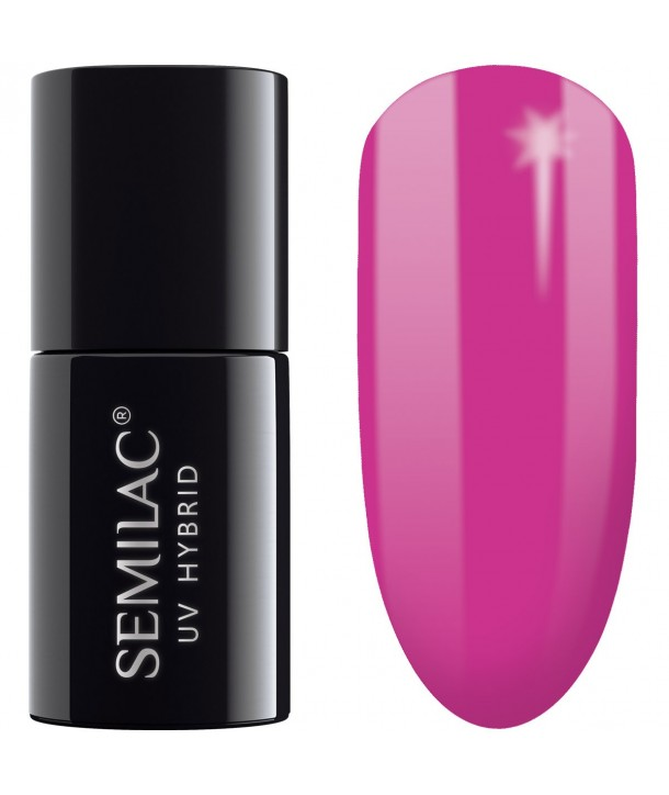 Semilac SemiBeats Hybrid Nail Polish 7ml - 520 Clear Amarant