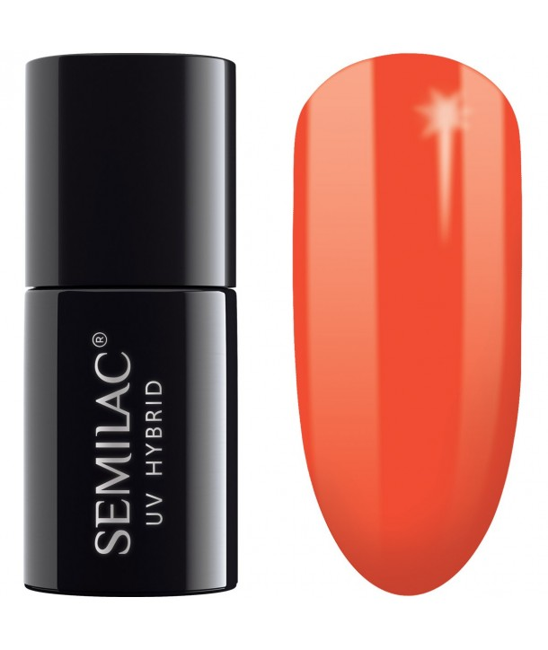 Semilac SemiBeats Hybrid Nail Polish 7ml - 518 Neon Orange