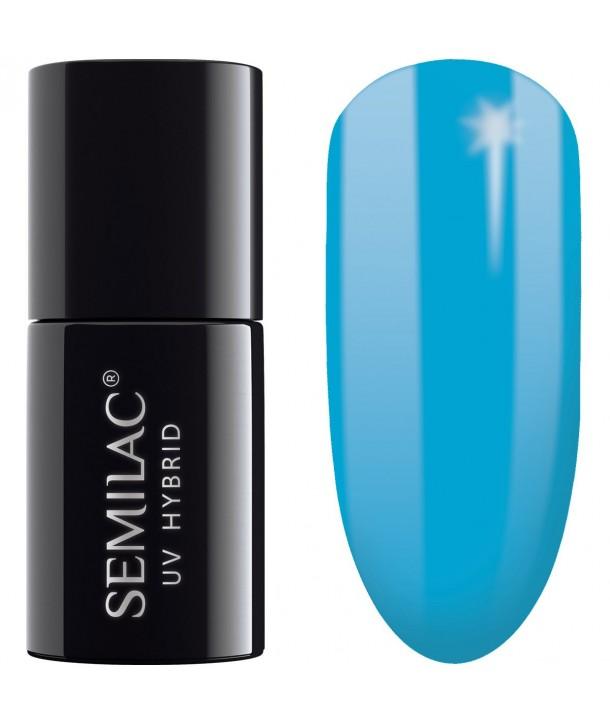 Semilac SemiBeats Hybrid Nail Polish 7ml - 523 Delicate Blue