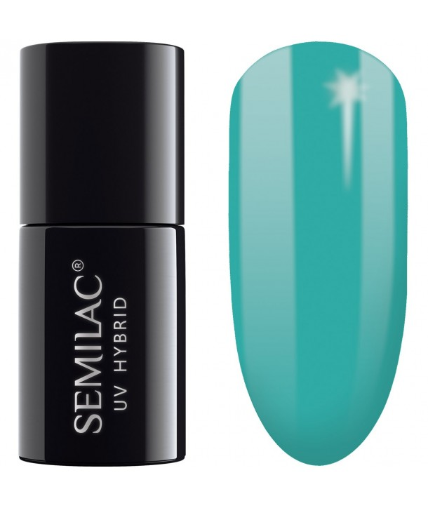 Semilac SemiBeats Hybrid Nail Polish 7ml - 522 Light Aquamarine