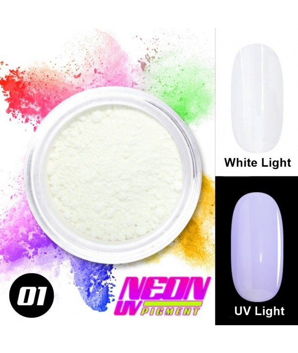 NEON UV Pigment Nail Powder ABA Group White 01