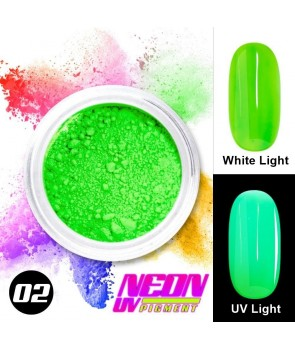 NEON UV Hybrid Nail Powder ABA Group Green 02