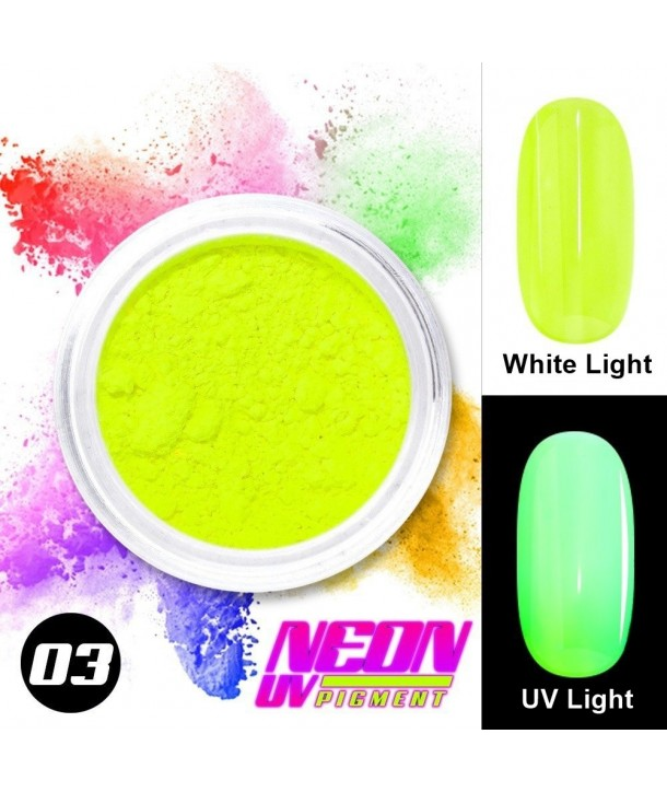NEON UV Pigment Nail Powder ABA Group Lime 03