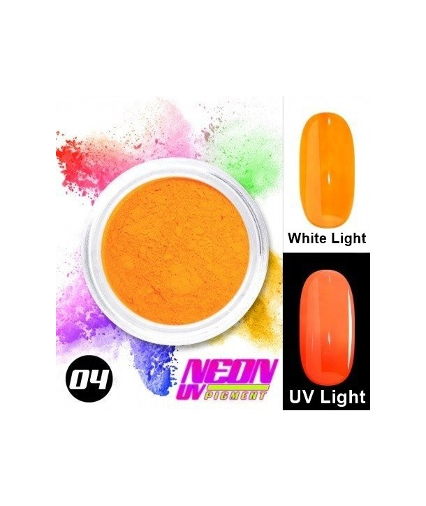 NEON UV Pigment Nail Powder ABA Group Light Orange 04