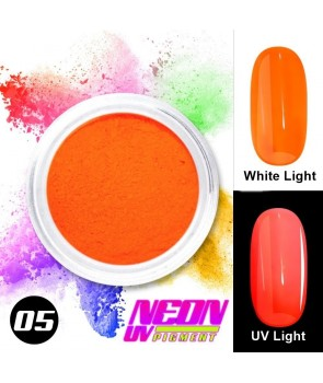 NEON UV Hybrid Nail Powder ABA Group Orange 05