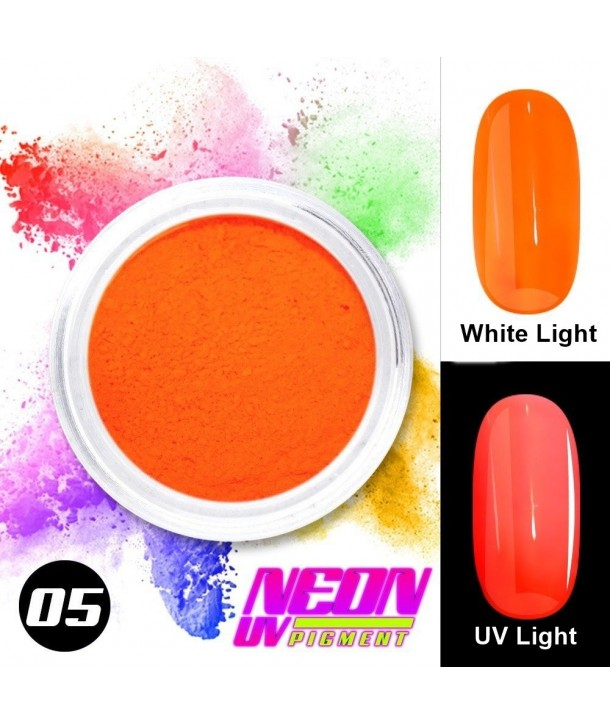 NEON UV Pigment Nail Powder ABA Group Orange 05