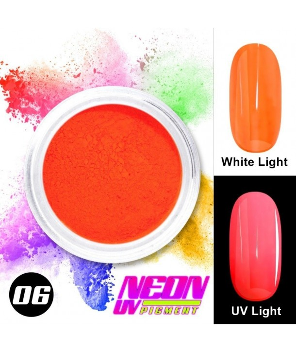 NEON UV Pigment Nail Powder ABA Group Light Red 06