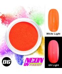 NEON UV Hybrid Nail Powder ABA Group Light Red 06