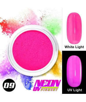 NEON UV Hybrid Nail Powder ABA Group Pink 09
