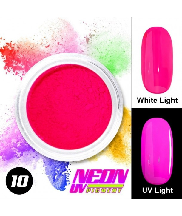 NEON UV Hybrid Nail Powder ABA Group Intense Pink 10