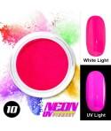 NEON UV Hybrid Nail Powder ABA Group Intense Pink 10