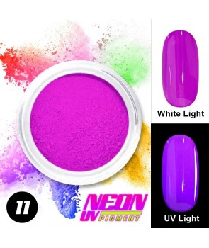 NEON UV Hybrid Nail Powder ABA Group Purple 11