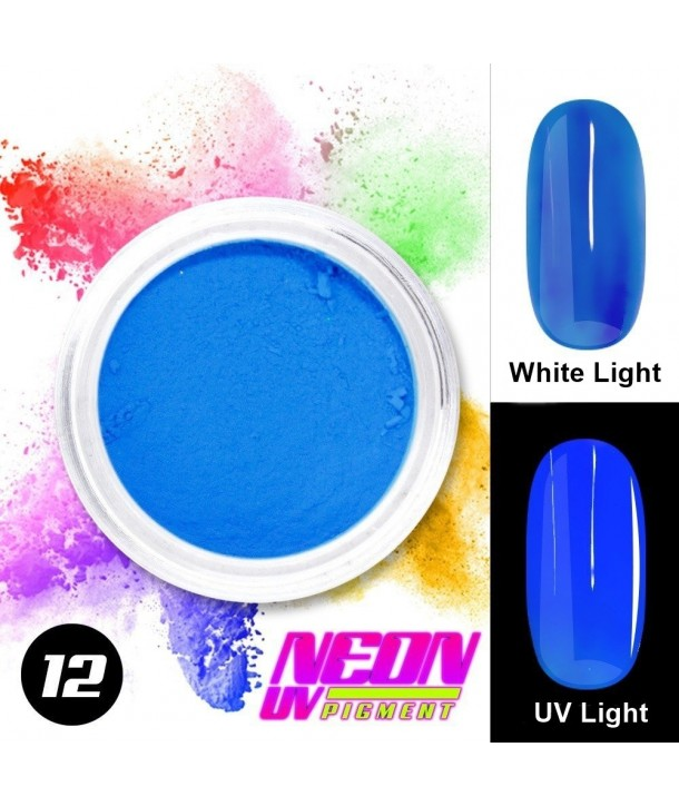 NEON UV Pigment Nail Powder ABA Group Blue 12