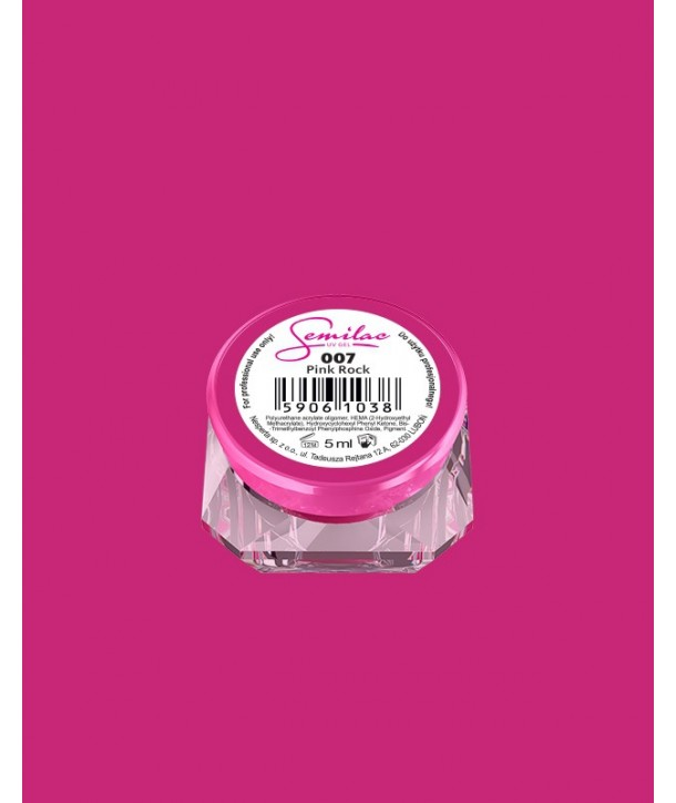 007 UV Gel Color Semilac Pink Rock 5ml