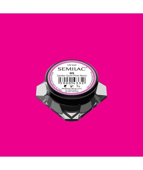 Semilac Spider Gum Neon Pink 5g