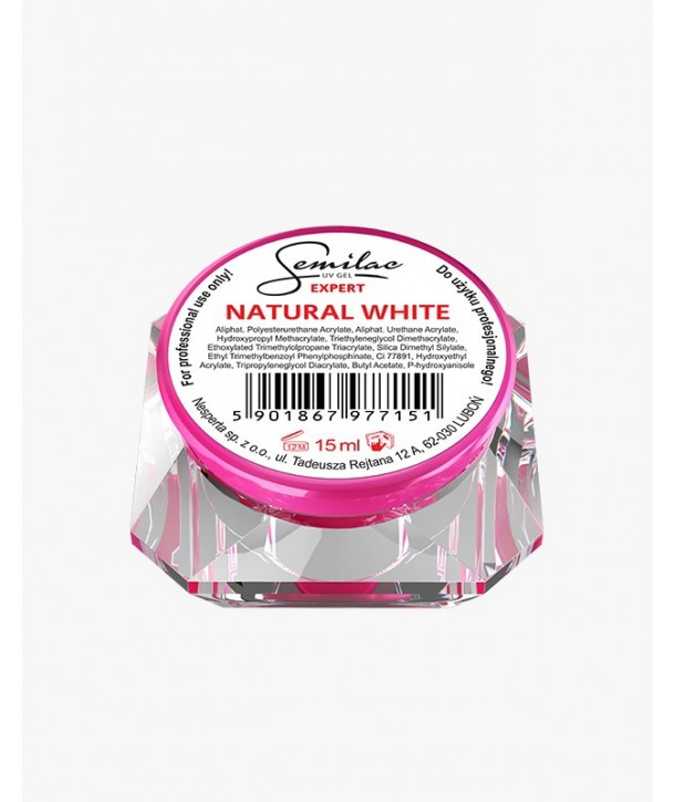 Semilac UV Gel Expert Natural White 15ml