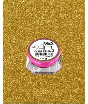Semi Art UV Gel 004 Gold