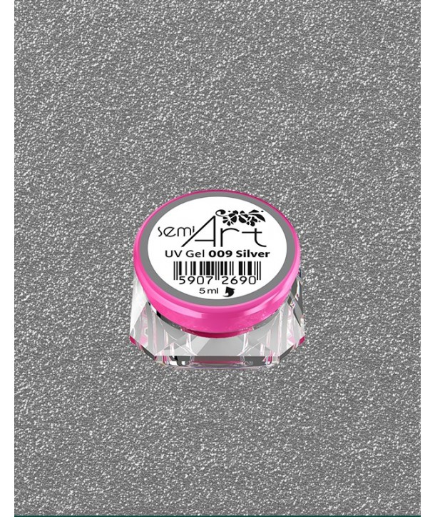 Semi Art UV Gel 009 Silver