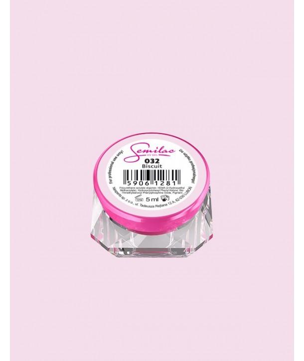 032 UV Gel Color Semilac Biscuit 5ml